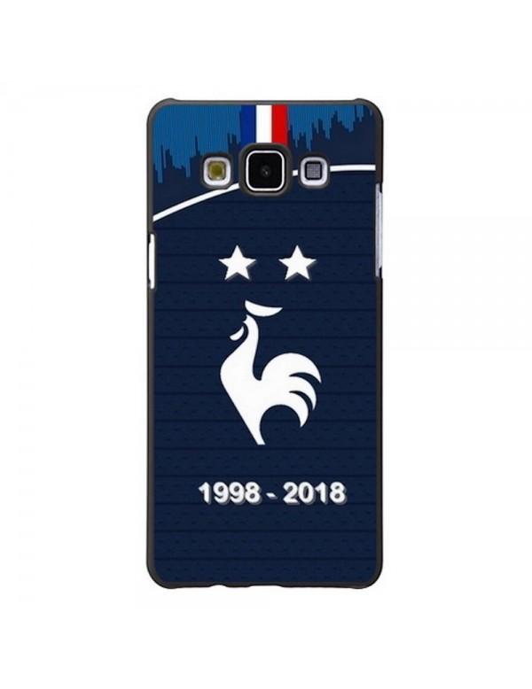 Coque rigide Samsung Galaxy A5 de 2015 - Football Champion du monde 2018 - Merci les bleus!