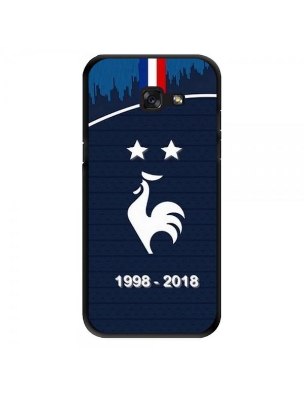 Coque rigide Samsung Galaxy J7 Prime - Football Champion du monde 2018 - Merci les bleus!