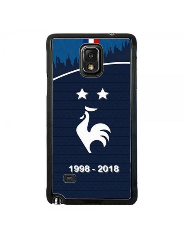 Coque rigide Samsung Galaxy Note 4 - Football Champion du monde 2018 - Merci les bleus!
