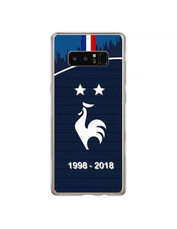 Coque rigide Samsung Galaxy Note 8 - Football Champion du monde 2018 - Merci les bleus!