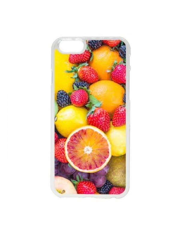 Coque silicone iPhone 6/6S - Fruit d'été Fraise Citron Orange
