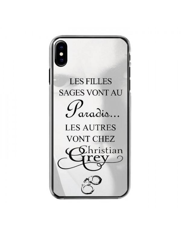 Coque rigide iPhone X/XS - Christian Grey - 50 nuances - Menottes
