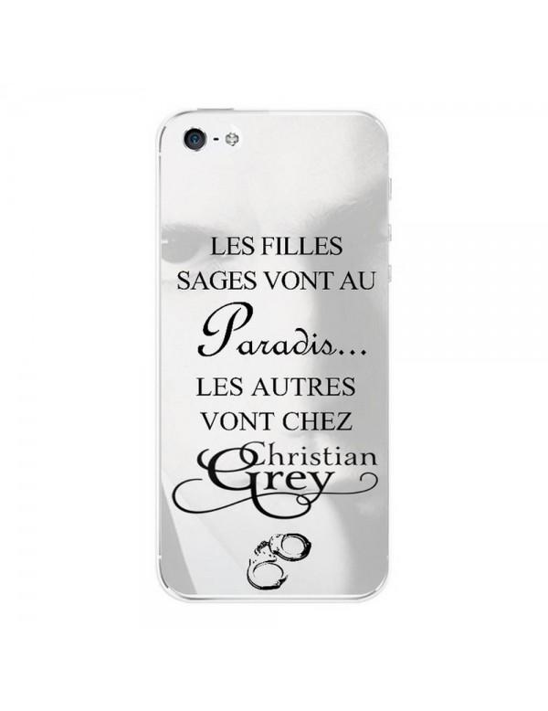 Coque rigide iPhone 5/5S, SE - Christian Grey - 50 nuances - Menottes