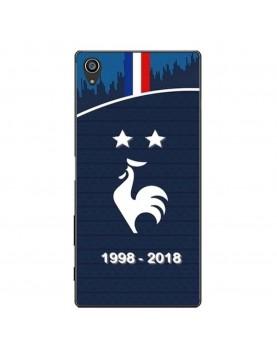 coque-Sony-Xpéria-Z5-football-champion-du-monde-2018-Maillot-bleu-domicile