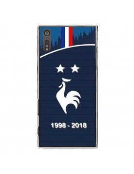 coque-Sony-Xperia-XZ-football-champion-du-monde-2018-Domicile-Maillot-Bleu