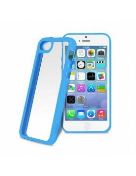 Bumper  pour iPhone 5C en silicone - Bleu