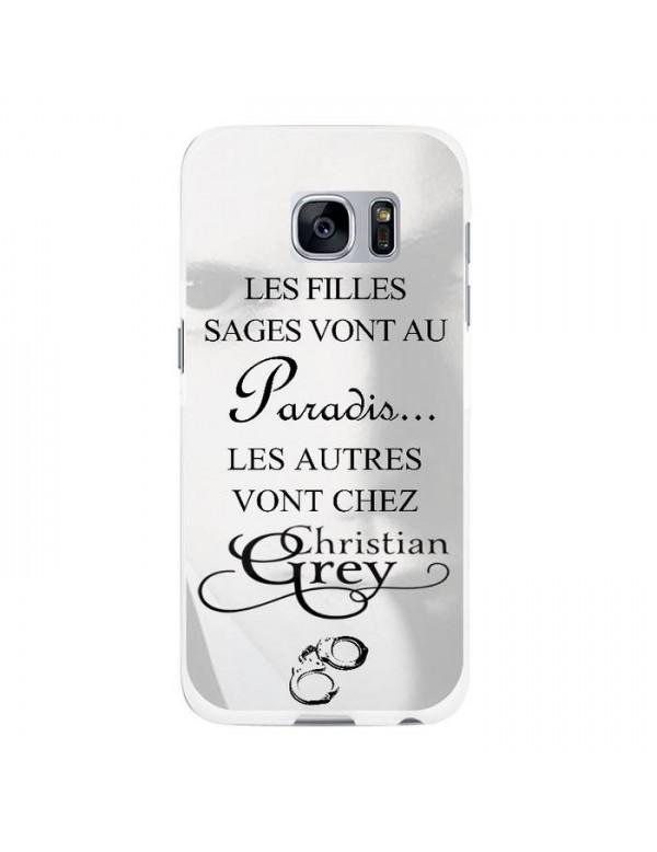 Coque rigide Samsung Galaxy S7 Edge - Christian Grey - Menottes
