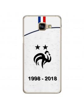 coque-Samsung-Galaxy-A5-2016-football-champion-du-monde-2018-Modèle-extérieur-Maillot-blanc