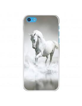 Coque-rigide-iPhone-5C-Coté-Blanc-Cheval-Blanc-Mer