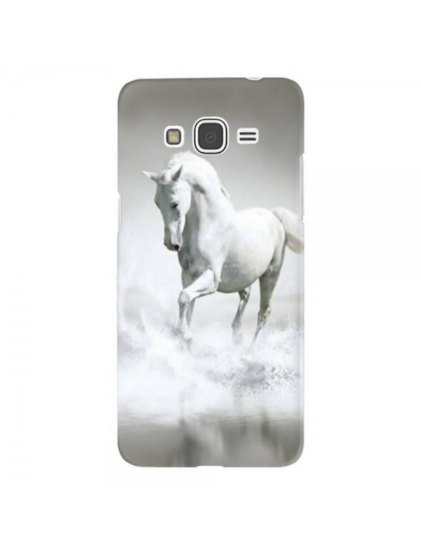 Coque rigide pour Samsung Galaxy Grand Prime - Magnifique cheval blanc sur l'eau