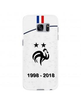 Coque-Samsung-Galaxy-S7-Football-Champion-du-Monde-2018-Maillot-Blanc
