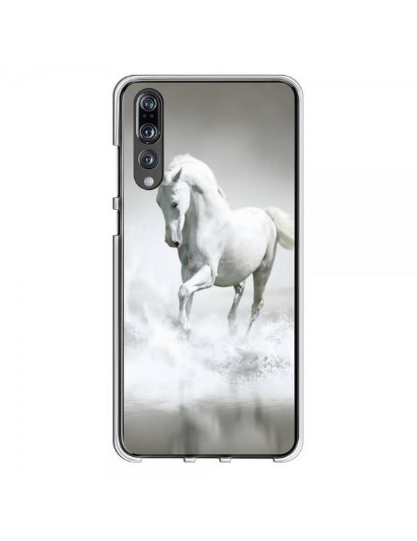 Coque rigide pour Huawei P20 PRO - Magnifique cheval blanc sur l'eau