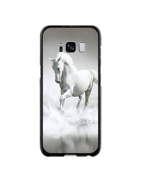 Coque rigide pour Samsung Galaxy S8 PLUS - Magnifique cheval blanc sur l'eau