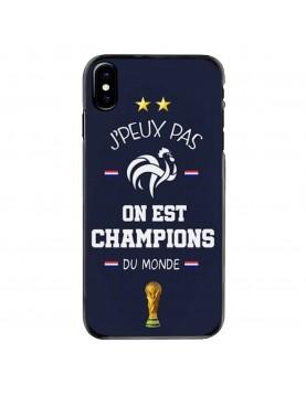 Coque iPhone X/XS-J peux pas on est champions du monde 2018