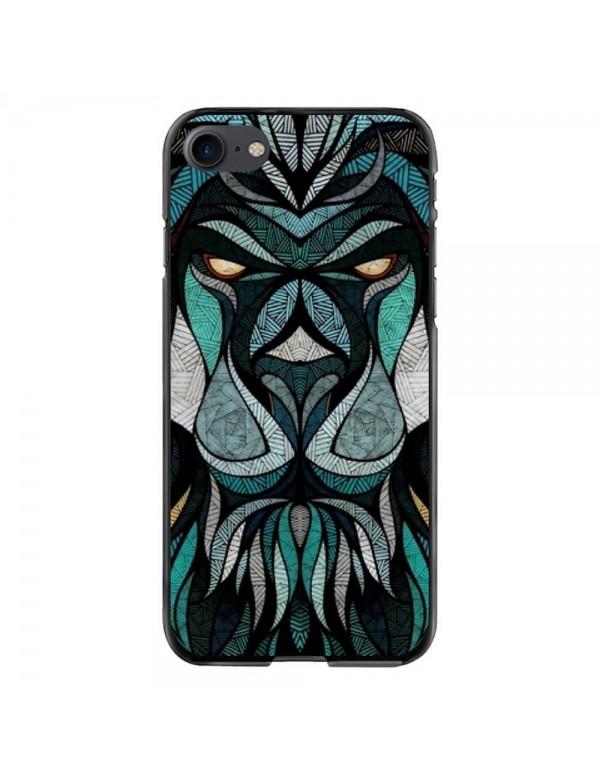 Coque souple iPhone 7/8 - Motif tête de lion tribal