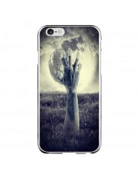 Coque souple pour iPhone 6/6S - Halloween -Main effrayante pleine lune