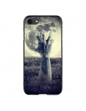 Coque-souple-iPhone-7-8-Halloween-main-Pleine-lune
