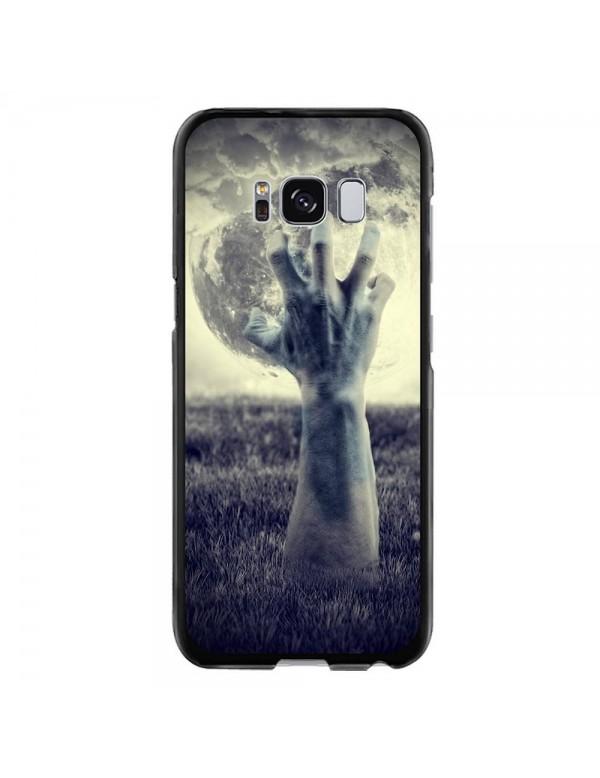 Coque rigide pour Samsung Galaxy S8 - Halloween - Main effrayante pleine lune