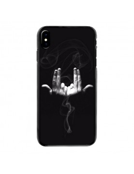 Coque souple iPhone X/XS - Geste rappeur Jul