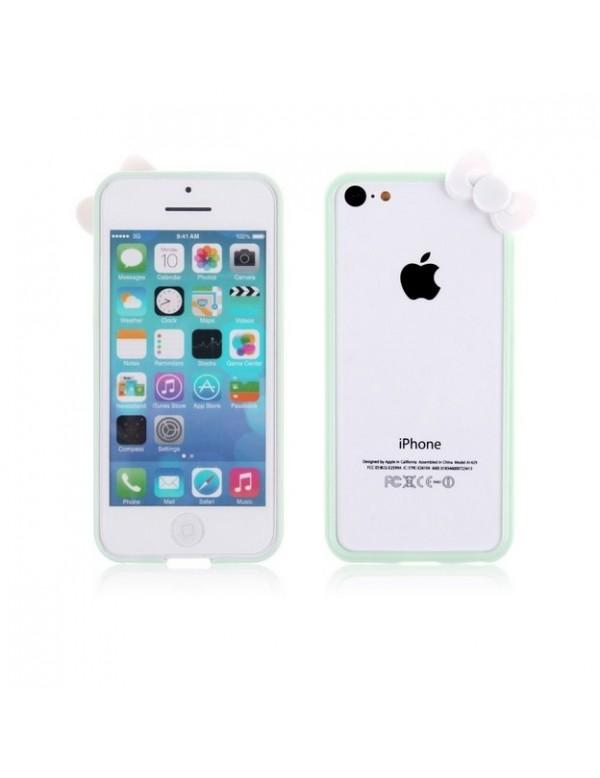 Bumper plastique iPhone 5C Hello Kitty Vert menthe