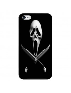 Coque-rigide-noir-iPhone 4-4S-Halloween-Scream-Poignard-Couteau