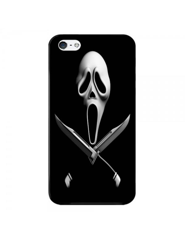 Coque iPhone 4/4S - Spécial Halloween - Masque de Scream et poignard.