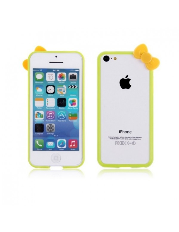 Bumper plastique iPhone 5C Hello Kitty Vert