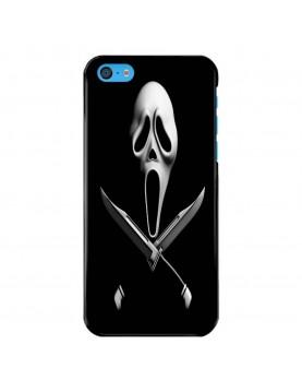 Coque-rigide-noir-iPhone-5C-Halloween-Scream-Poignard-Couteau