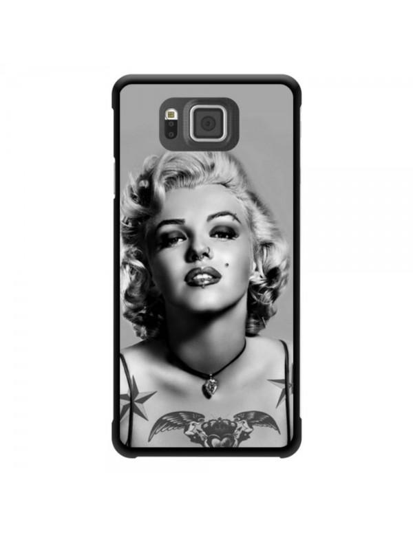 Coque Samsung Galaxy Alpha Marylin Monroe Tatouage Noir et blanc