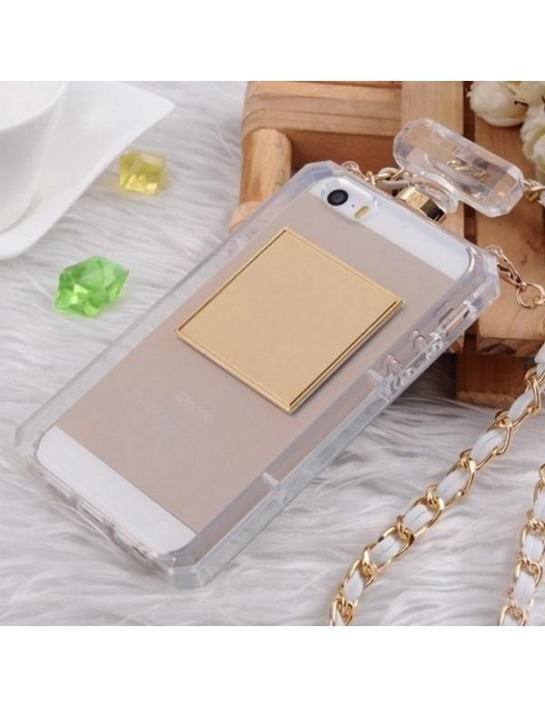 iPhone 5C Coque souple bouteille parfum transparente