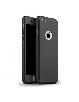 Coque silicone noir 360° iPhone 7  Plus et 8 Plus noir verre trempé
