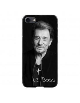 Coque-iPhone-7-8-Souple-Noir-Johnny-Le-Boss