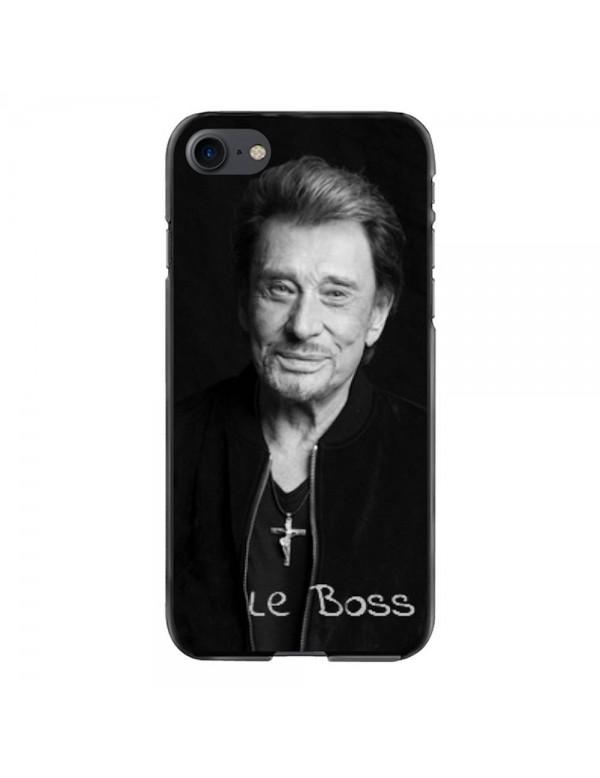 Coque iPhone 7/8 Souple Noir Johnny Le Boss