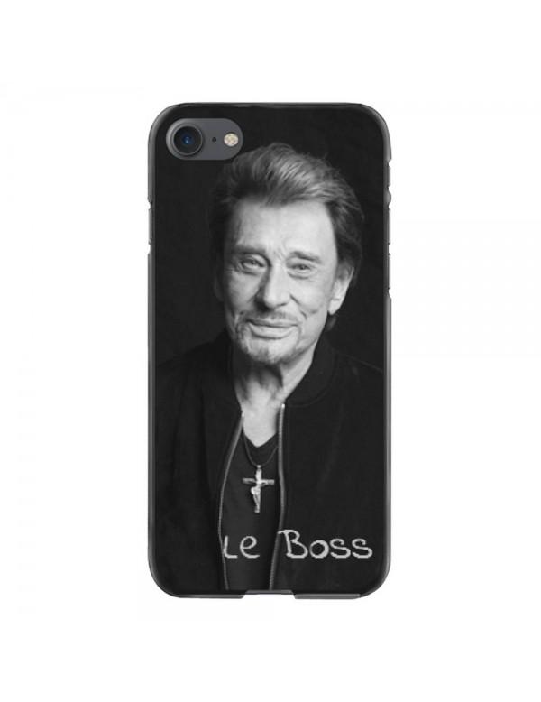 Coque iPhone 6/6S Souple Noir Johnny Le Boss