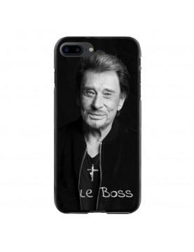 Coque-iPhone-7-Plus-8-Plus-Souple-Noir-Johnny-Le-Boss