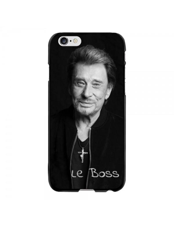 Coque iPhone 6 PLUS/6S PLUS Souple Noir Johnny Le Boss