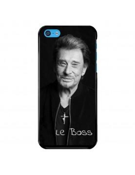 Coque-iPhone-5C-Souple-Noir-Johnny-Le-Boss