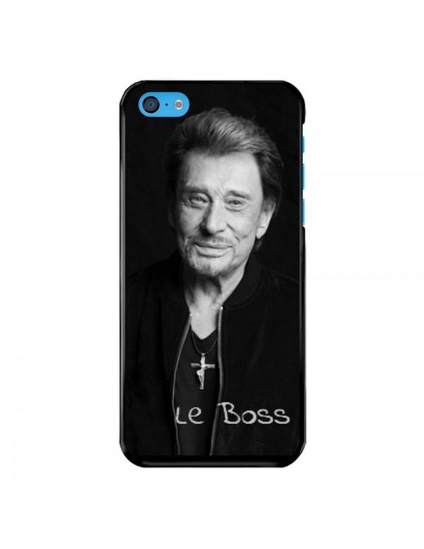 Coque iPhone 5C Souple Noir Johnny Le Boss