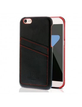 coque-Mylow-Design-iPhone-X-XS-noir-range-carte-en-cuir