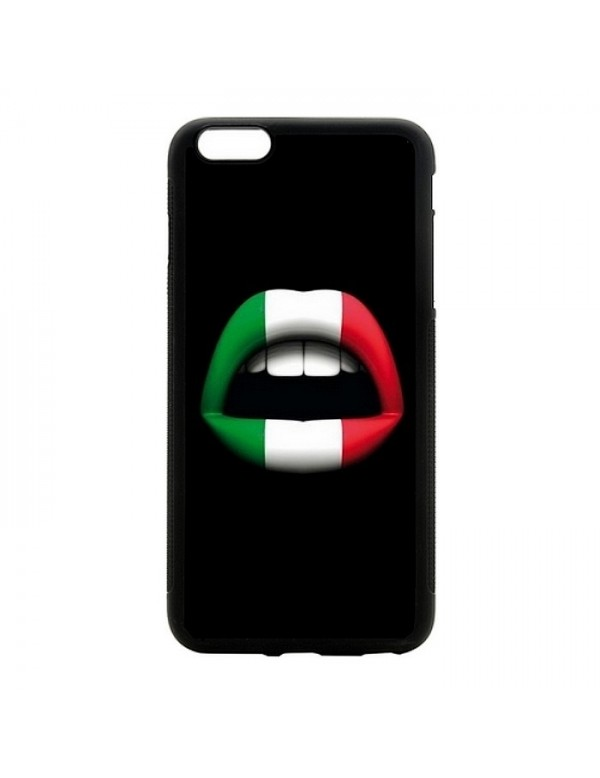 Coque rigide pour iPhone 5C Lèvres aux couleurs de l'Italie