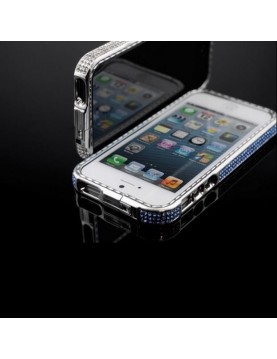 Bumper iPhone 5/5S, SE Strass Color-Bleu clair