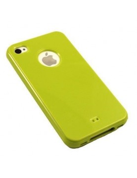 Coque iPhone 5/5S Glossy Silicone -Vert