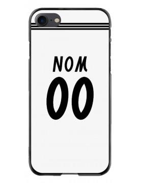 Coque football pour iPhone 7/8 aux couleurs du maillot domicile du Réal Madrid à personnaliser.