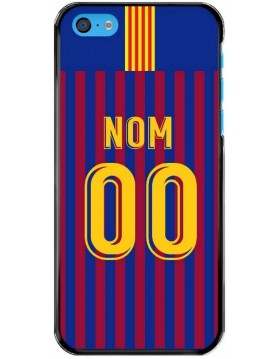 Coque foot FC Barcelone personnalisable pour iPhone