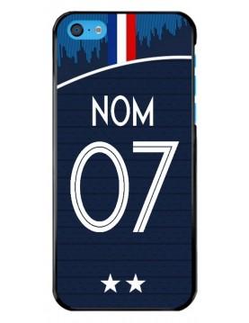 Coque-iPhone-5C-Personnalisable Coupe-du-monde-2018-domicile
