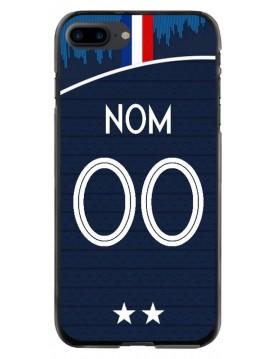 Coque personnalisable iPhone 7 PLUS - 8 PLUS - France coupe du monde domicile