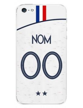 Coque football à personnaliser pour iPhone 4/4S Coupe du monde 2018 Maillot blanc extérieur