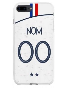 Coque football pour iPhone 7 PLUS et 8 PLUS - Coupe du monde 2018 Maillot blanc extérieur