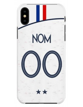 Coque football pour iPhone XS Max Coupe du monde 2018 maillot blanc exterieur