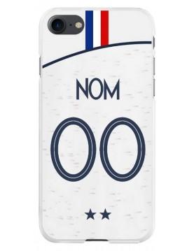 Coque football pour iPhone 7 et 8 - Coupe du monde 2018 Maillot blanc extérieur